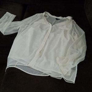 East 5th Sheer White Button Down Shirt & Tank
